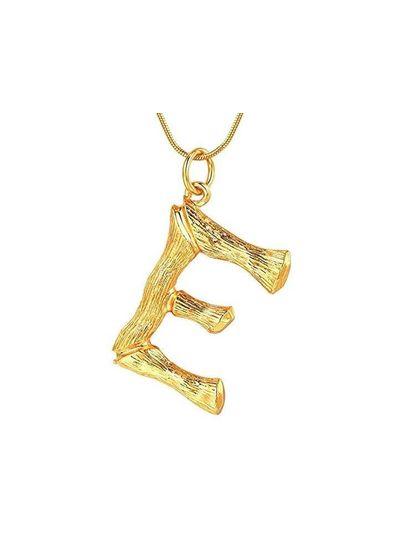 Adamarina E -Gold Buchstabe Anhänger  mit Kette