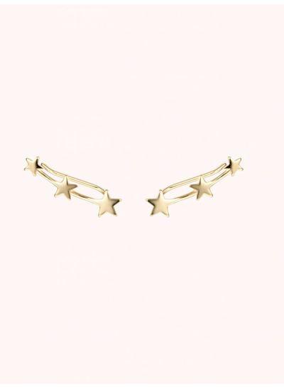 Adamarina Three Stars Gold · Ohr Kletterer