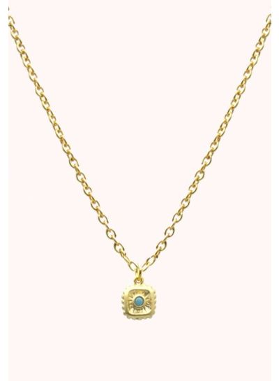 Adamarina Cristal Azul. Colgante con cadena
