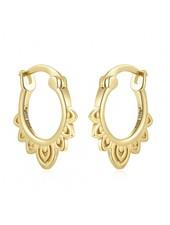 Adamarina Ohrringe Gold Gypsy