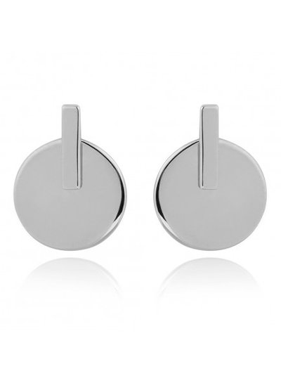 Adamarina Silver Rhoudium Earrings