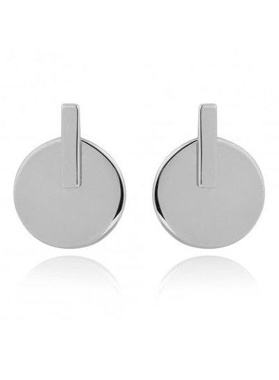 Adamarina Silver Rhoudium Earrings