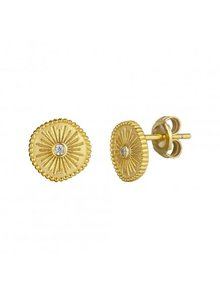 Adamarina Gold Earrings