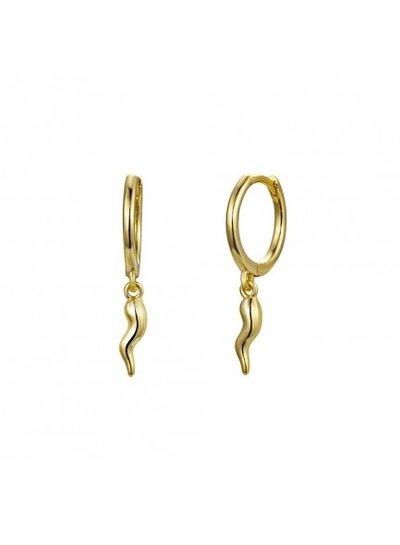 Gold Earrings Chilli