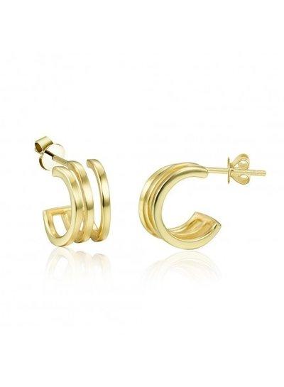 Adamarina Ohrringe Gold 3 Reifen