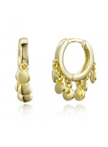 Adamarina Gold Earrings
