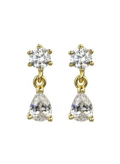 Adamarina Gold Circonia Earrings