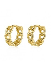 Adamarina Chain Gold Earrings