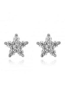 Adamarina Silver Star Earrings