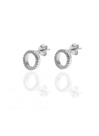 Adamarina Circonia Silver Earrings