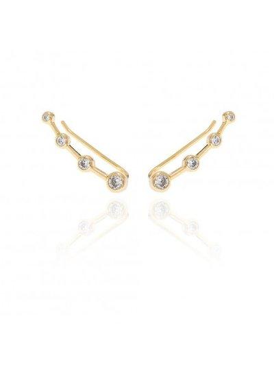 Adamarina Ear Cuff Gold Circonia