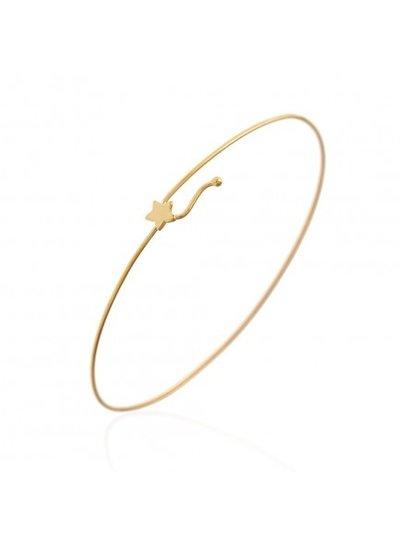 Adamarina Armband Silber-Vergoldet Star