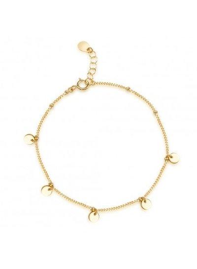 Adamarina Bracelet Circles Silver-Gold-Plated