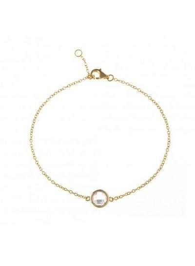Adamarina Armband Mit Stein Silber-Vergoldet