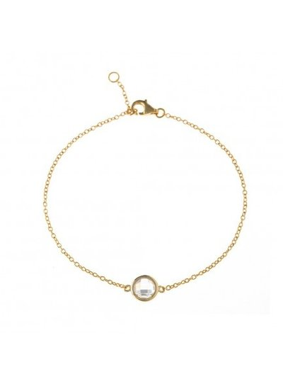 Adamarina Bracelet with Stone Gold-Plated