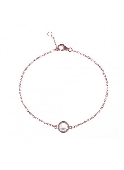 Adamarina Bracelet Rose-Gold with Stone