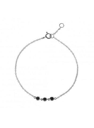 Adamarina Bracelet Black Circonia