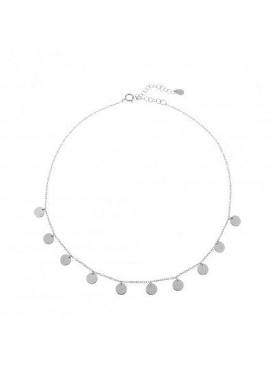 Adamarina Choker Necklace Silver