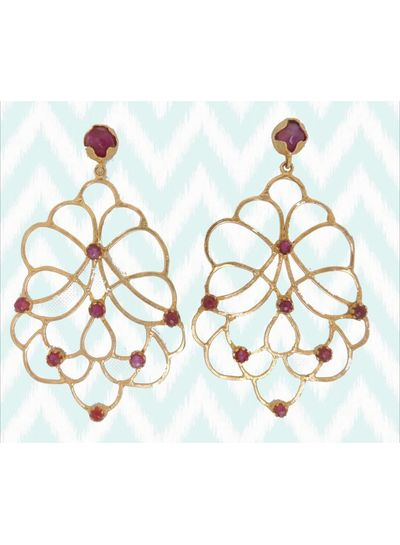 Adamarina Dalia Lila Earrings