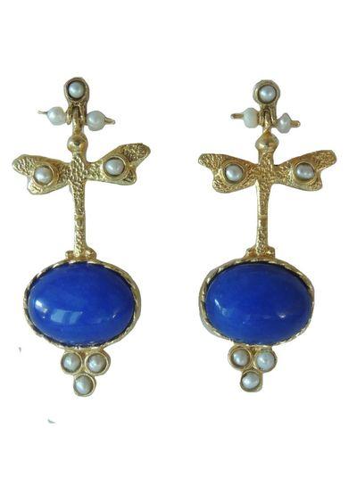 Adamarina Lucia Blue Earrings