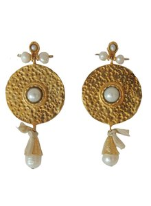 Adamarina Helena Pearls Earrings