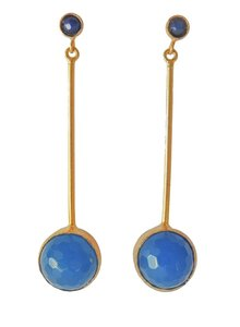 Adamarina Kali Blue Earrings