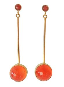 Adamarina Kali Orange Earrings