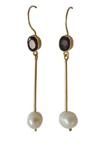 Adamarina Cloe Lilac Earrings