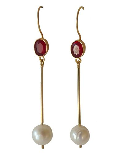 Adamarina Cloe Red Earrings