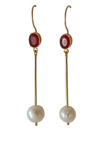Adamarina Cloe Red Earrings