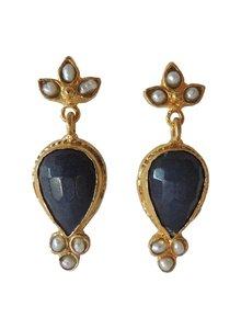 Adamarina Sammy Navy Earrings