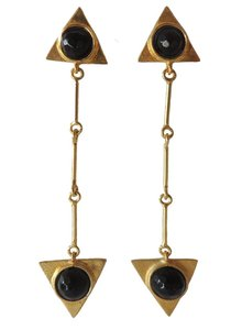 Adamarina Isis Black Earrings
