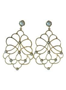 Adamarina Dalia Pearl Earrings