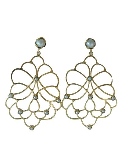 Adamarina Dalia Pearl Earrings