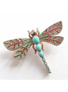 Adamarina Brooch Dragonfly #35