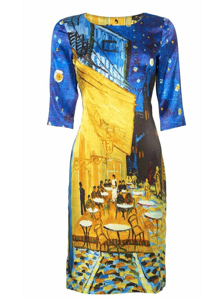 Cafe Terrace At Night Dress