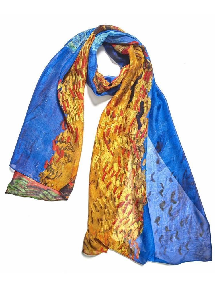 Wheatfield with Crows Scarf
