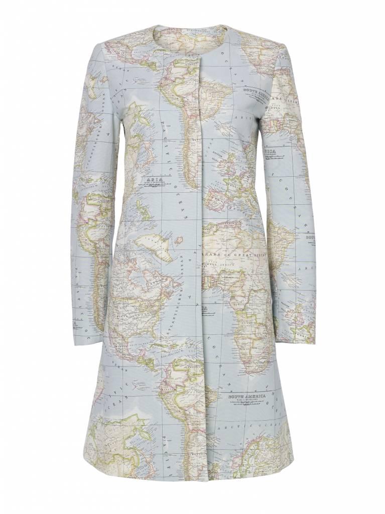 World Map Coat - StoryDress