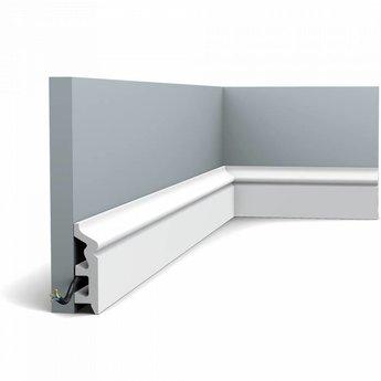 Plint SX122 Orac Axxent Collectie L200 x H8 x D2,2 cm (waterbestendig)