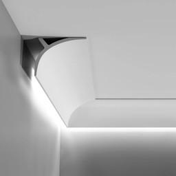 C991 Kroonlijst voor LED Verlichting / Gordijnprofiel