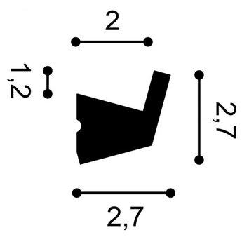 CX189 Kroonlijst voor Indirect Verlichting Orac Decor  200 x 2,7 x 2.7 cm