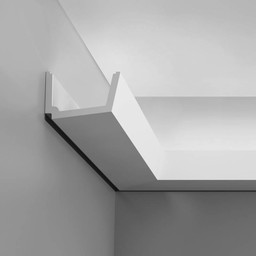 Kroonlijst voor Indirect Verlichting C357 STRAIGHT Orac Decor Luxxus