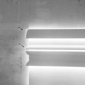 Orac Decor Luxxus Collectie C373 ANTONIO Kroonlijst/ Wandlijst/ Plint voor Indirecte Verlichting