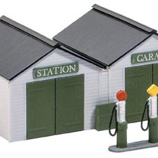 Wills Wills Scenic Series SS12 Garagen mit Tanksäulen (Spur H0/00)