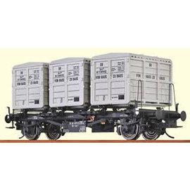 """Brawa Brawa 37155 Containertragwagen """"von Haus zu Haus"""" DB Ep. 3/4 Spur 0"""