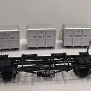"""Brawa Brawa 37155 Containercarrier """"von Haus zu Haus"""" DB Ep. 3/4 Gauge 0"""
