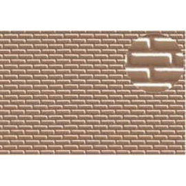 Slater's Plastikard SL403 Builder Sheet embossed with standard brickwork in grey, H0/OO-Gauge, plastic
