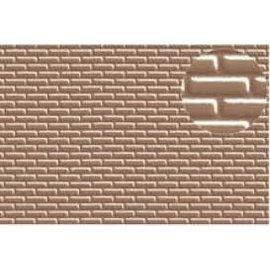 Slater's Plastikard SL403 Zelfbouwplaat baksteen half steens, grijsbruin,schaal H0 Plastic
