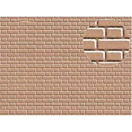 Slater's Plastikard SL409 Builder Sheet embossed with flemish bond brickwork in grey, H0/OO gauge, plastic