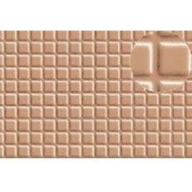 Slater's Plastikard SL417 Selbstbauplatte Fliesenmotiv in graubrauner Farbe. Maßstab H0/OO/N aus Kunststoff